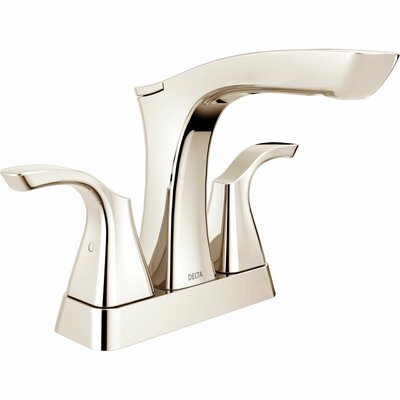 Tesla� Centerset Double Handle Bathroom Faucet with Drain Assembly and Diamond Seal Technology Finish: Brilliance Polished Nickel
