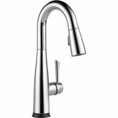 Essa Touchless Single Handle Pull Down Deck Mounted Bar Faucet with Touch2O Finish: Chrome