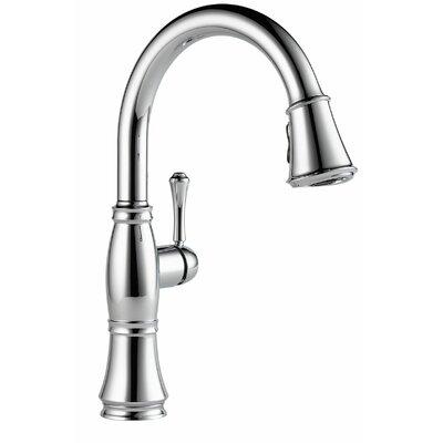 Cassidy Single Handle Pull Down Kitchen Faucet with Spray Finish: Chrome