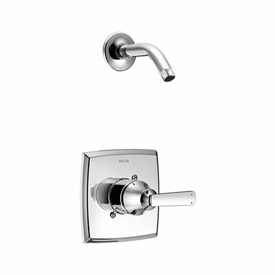Ashlyn Shower Faucet Trim with Metal Lever Handle Finish: Chrome