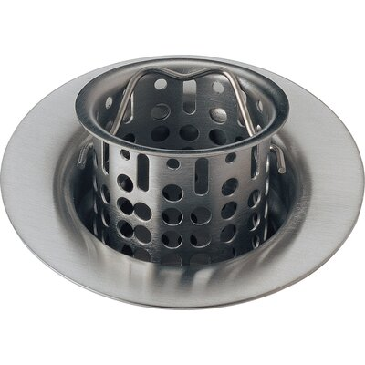 Bar Prep Sink Flange and Basket Strainer Stopper Flange Finish: Brilliance Stainless