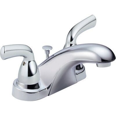 Foundations Centerset Double Handle Bathroom Faucet with Drain Assembly and Diamond Seal Technology Finish: Chrome