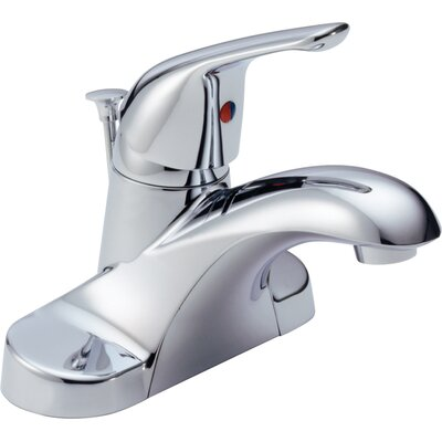 Foundations Centerset Bathroom Faucet with Single Handle Finish: Chrome