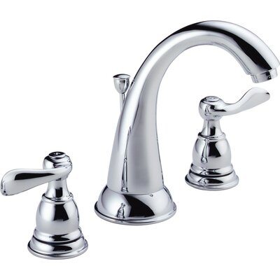 Windemere Widespread Double Handle Bathroom Faucet with Drain Assembly Finish: Chrome