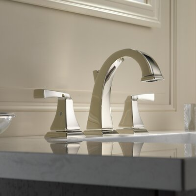 Dryden? Double Handle Widespread Bathroom Faucet with Drain Assembly and Diamond Seal Technology Finish: Brilliance Polished Nickel