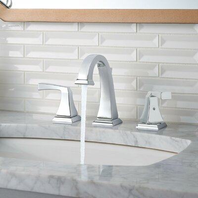 Dryden Widespread Bathroom Faucet with Double Lever Handles Finish: Chrome