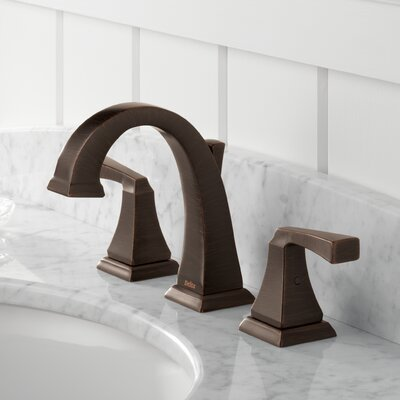 Dryden? Double Handle Widespread Bathroom Faucet with Drain Assembly and Diamond Seal Technology Finish: Venetian Bronze
