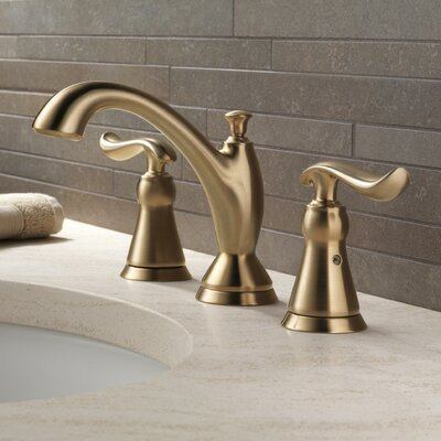 Linden? Widespread Double Handle Bathroom Faucet and Diamond Seal Technology Finish: Brilliance Champagne Bronze