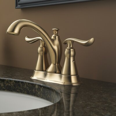 Linden? Centerset Double Handle Bathroom Faucet with Drain Assembly and Diamond Seal Technology Finish: Brilliance Champagne Bronze