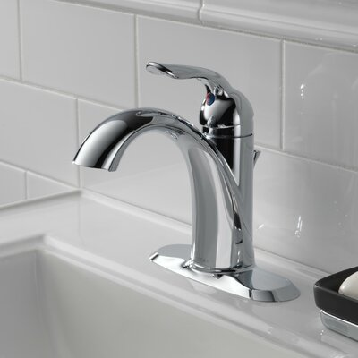 Lahara Standard Lever Handle Bathroom Faucet Finish: Chrome