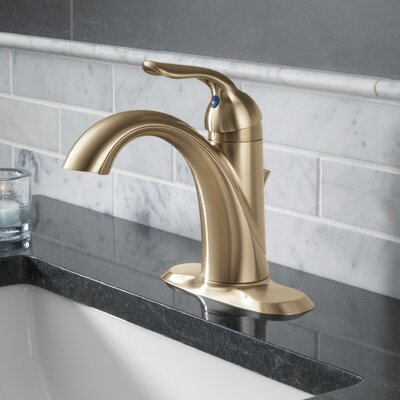 Lahara Standard Lever Handle Bathroom Faucet Finish: Brilliance Champagne Bronze