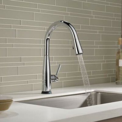 Essa Single Handle Pull Down Standard Kitchen Faucet with Touch2O Finish: Chrome