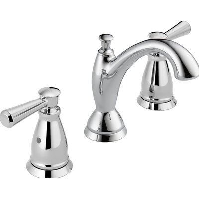 Linden? Widespread Double Handle Bathroom Faucet with Drain Assembly and Diamond Seal Technology Finish: Chrome