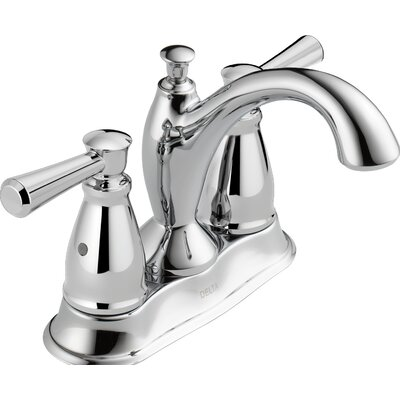 Linden? Centerset Double Handle Bathroom Faucet with Drain Assembly and Diamond Seal Technology Finish: Chrome