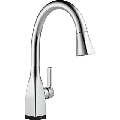 Mateo Pull Down Touch Single Handle Kitchen Faucet with LED Light Finish: Chrome