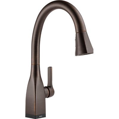 Mateo Pull Down Touch Single Handle Kitchen Faucet with LED Light Finish: Venetian Bronze