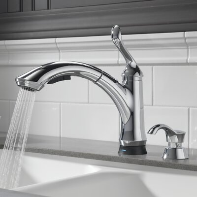 Linden Touchless Single Handle Pull Out Standard Kitchen Faucet Finish: Chrome