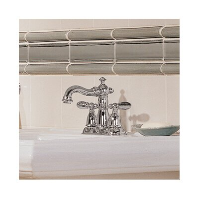 Victorian Centerset Double Handle Bathroom Faucet with Drain Assembly and Diamond Seal Technology Finish: Chrome