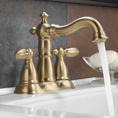 Victorian Standard Bathroom Faucet Lever Handle with Drain Assembly Finish: Brilliance Champagne Bronze