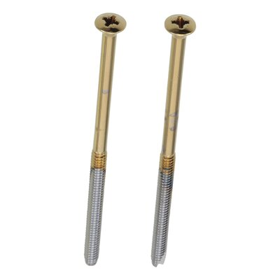 Longer Escutcheon Trim Screws Finish: Brilliance Polished Brass