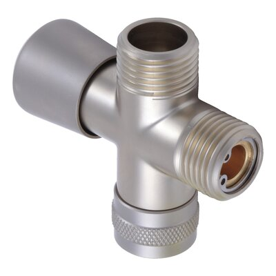 Universal Showering Components Shower Arm Diverter Valve Finish: Pearl Nickel