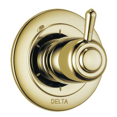 Diverter Faucet Trim with Lever Handles Finish: Brilliance Polished Brass