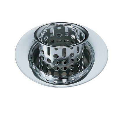 Bar Prep Sink Flange and Basket Strainer Stopper Flange Finish: Chrome