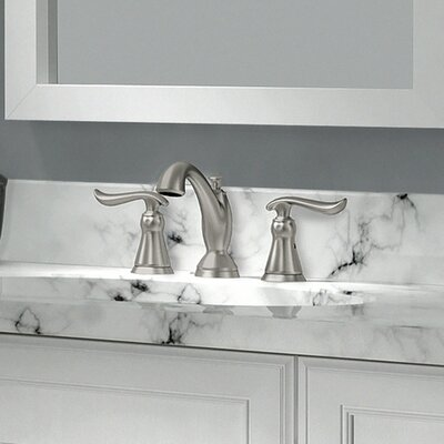 Linden? Widespread Double Handle Bathroom Faucet and Diamond Seal Technology Finish: Brilliance Stainless
