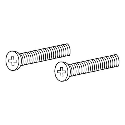 Replacement Overflow Plate Screw Finish: Brilliance Polished Nickel