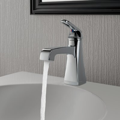 Ashlyn Standard Bathroom Faucet Lever Handle with Drain Assembly Finish: Chrome