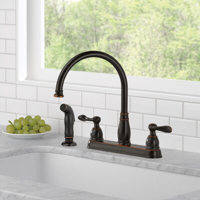 Windemere Double Handle Standard Kitchen Faucet Finish: Oil Bronze