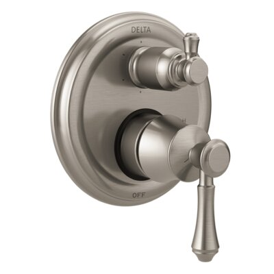 Cassidy Monitor 14T Series Pressure Balance Valve Faucet Trim with Double Lever Handle Finish: Stainless