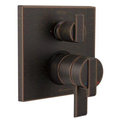 Ara Pressure Balance 17T Series Valve Trim with Double Lever Handle Finish: Venetian Bronze