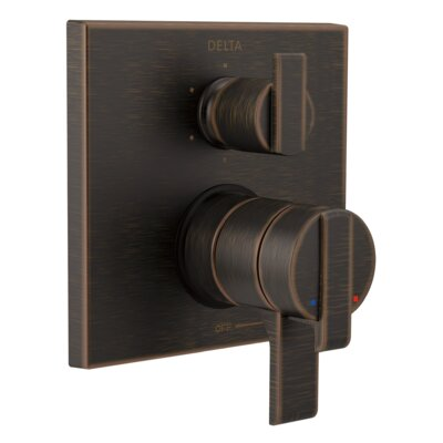 Ara Pressure Balance 17T Series Trim with Double Handle Finish: Venetian Bronze