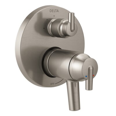Trinsic Thermostatic 17T Series Valve Trim with Double Handle Finish: Stainless