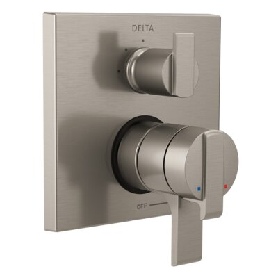 Ara Pressure Balance 17T Series Valve Trim with Double Lever Handle Finish: Stainless