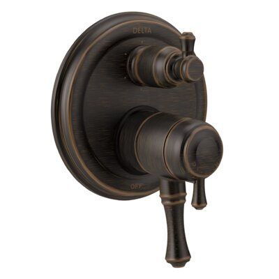 Cassidy Monitor 17T Series Pressure Balance Valve Trim with Double Handle Finish: Venetian Bronze