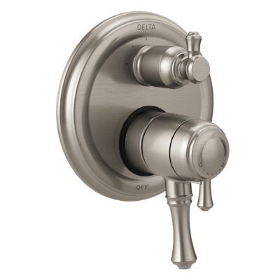 Cassidy Monitor 17T Series Pressure Balance Valve Trim with Double Handle Finish: Stainless