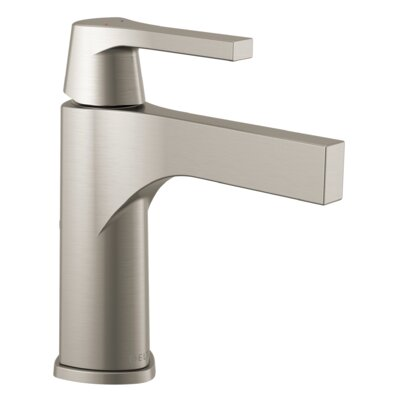 Zura Single Hole Single Handle Bathroom Faucet with Drain Assembly Finish: Stainless