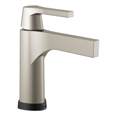 Zura Single Handle Centerset Bathroom Faucet with Drain Assembly Finish: Stainless