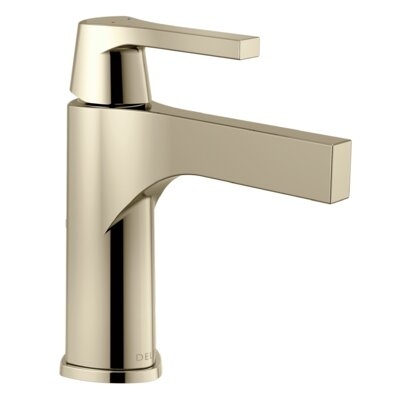 Zura Single hole Single Handle Bathroom Faucet with Drain Assembly and Diamond Seal Technology Finish: Polished Nickel
