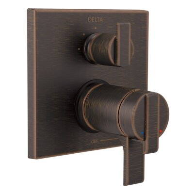 Ara Thermostatic 17T Series Trim with Double Handle Finish: Venetian Bronze