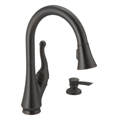 Talbott Pull Down Touch Single Handle Kitchen Faucet Finish: Venetian Bronze