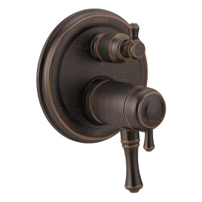 Cassidy Thermostatic 17T Series Valve Trim with Double Handle Finish: Venetian Bronze