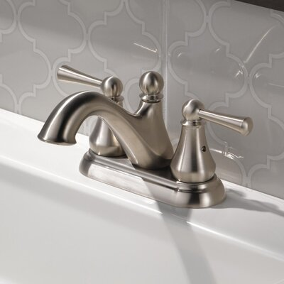 Haywood Double Handle Centerset Bathroom Faucet Finish: Brilliance Stainless