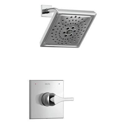 Zura Pressure Balance Monitor 14 Series Shower Trim with Single Lever Handle Finish: Chrome