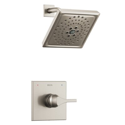 Zura Pressure Balance Monitor 14 Series Shower Trim with Single Lever Handle Finish: Stainless