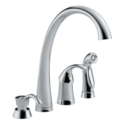 Pilar Touch Single Handle Kitchen Faucet with Side Spray