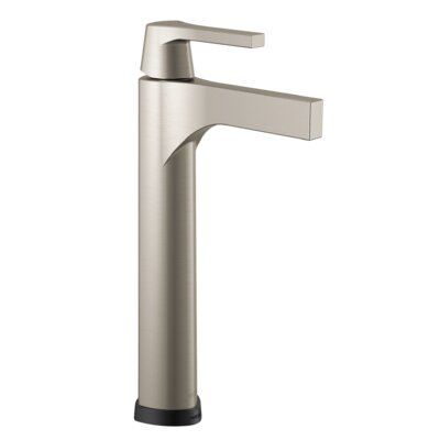 Zura Single Handle Vessel Bathroom Faucet Finish: Stainless
