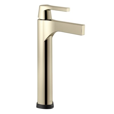 Zura Single Handle Vessel Bathroom Faucet Finish: Polished Nickel